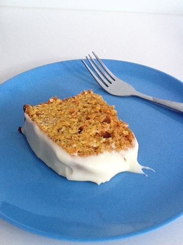 Healthy carrot cake - so yummy it was gone in 7 minutes. . .  Recipe inside