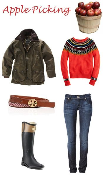 Apple Picking outfit--cute sweater and jacket!