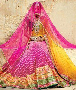 #Pink #Golden #Yellow #LehengaCholi - shoppers99.com
