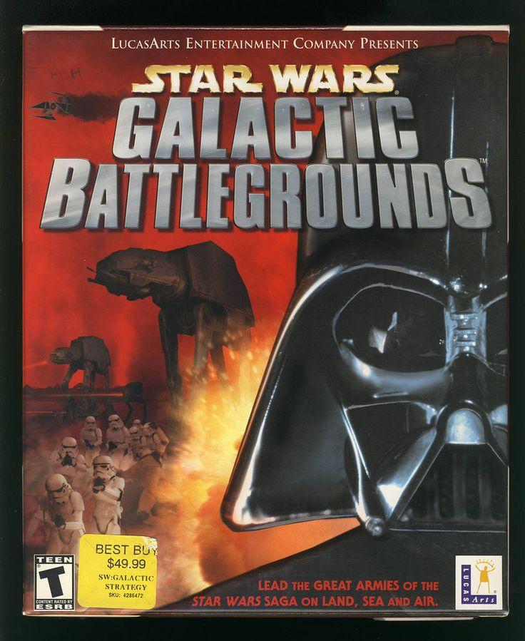 Star Wars Galactic Battlegrounds PC 2001 Orig Big Box Complete VG 0023272853181 | eBay