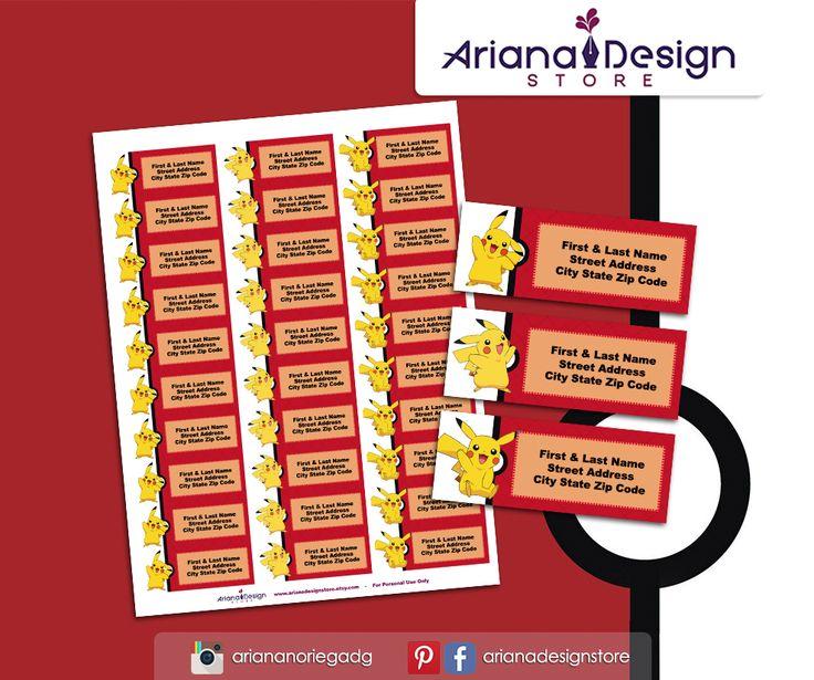 #etiquetas #etiquetasparadirecciones #pikachu #arianadesignstore #pokemon #addresslabel #partypokemon #label #mail #stickers #letter # #etiquetascolegio #fiestapokemon #nametag #pikachustickers
