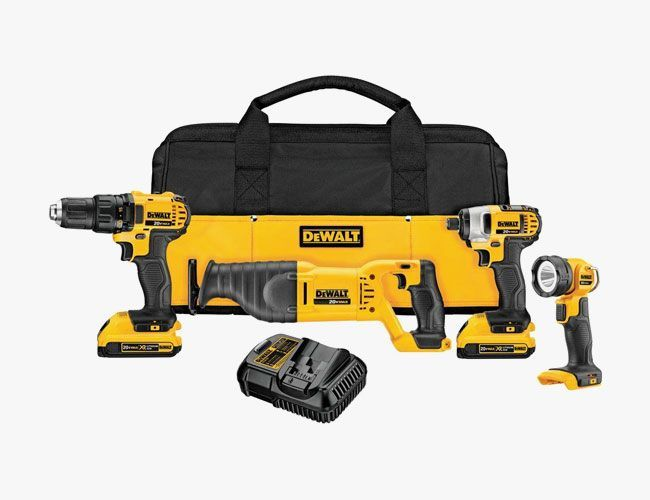 How to save on a DeWalt cordless power tool set, Tumi Vapor Lite Carry On, Global 2-Piece Knife Set and clothes from J.Crew.