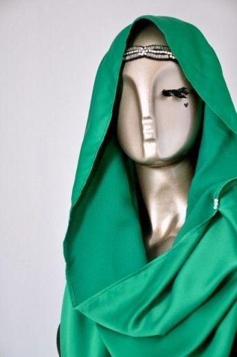 Snood Tajima Cavalli-Emerald Green - Snoods - Online Collection | Online Hijab Store in Singapore| Shawl | Hoodies | Hijabfashion|