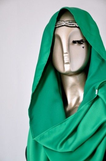 Snood Tajima Cavalli-Emerald Green - Snoods - Online Collection   Online Hijab Store in Singapore  Shawl   Hoodies   Hijabfashion 