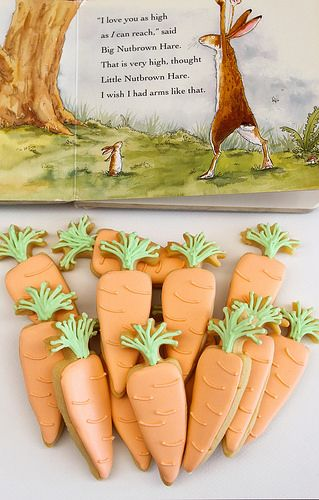 Carrot cookies for a Guess how much I love you? party