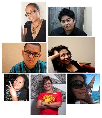 Fiji-Fly-Grrls! Dulcie Stewart (Australia), Sangeeta Singh (NZ), Luisa Tora (NZ), Torika Bolatagici (Australia), Margaret Aull (NZ), Ema Tavola (NZ)  and Tagi Qolouvaki (USA).
