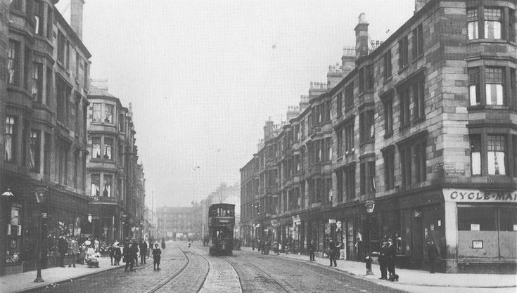 Looking up Dalmarnock Street (Springfield Road) toward Gallowgate (Whitby Street on Rt)