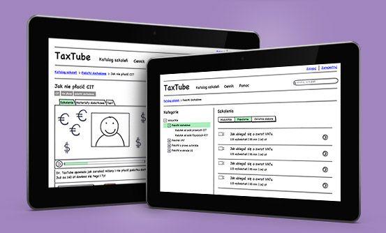 www.taxtube.pl - dokumentacja funkcjonalno-techniczna oraz prototyp dla portalu taxtube.pl // functional and technical documentation and a prototype for taxtube.pl
