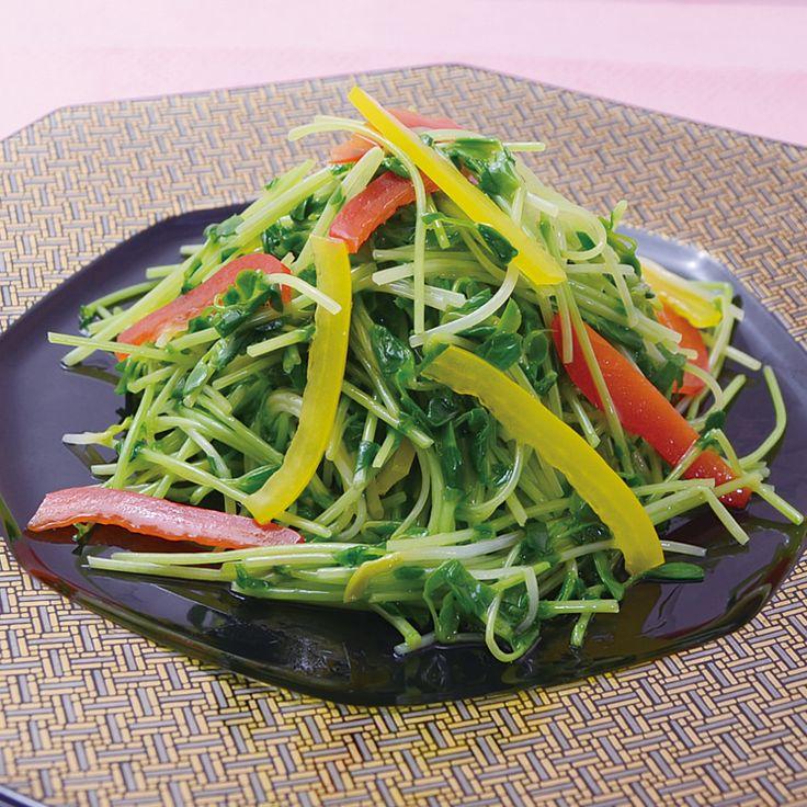 シャキシャキ香ばし豆苗炒め安心野菜の中華とオーガニックワイン 華菜家 HANAYA