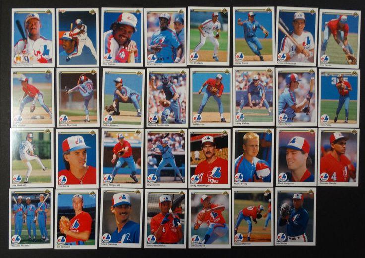 1990 upper deck ud montreal expos team set of 31 baseball