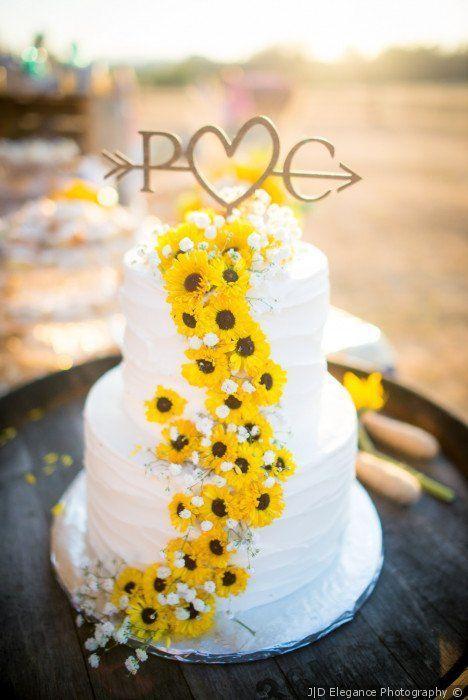 Über 50 inspirierende Sonnenblumen-Hochzeitsideen für 2019 – lieben Sie diese weiße …   – Wedding