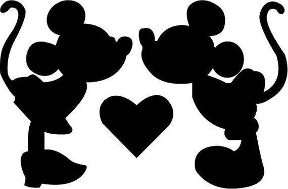 36c98b29 Disney Minnie Mickey Kiss SVG Design for Silhouette Studio, Cut Files, Clip  Art, includes SILHOUETTE