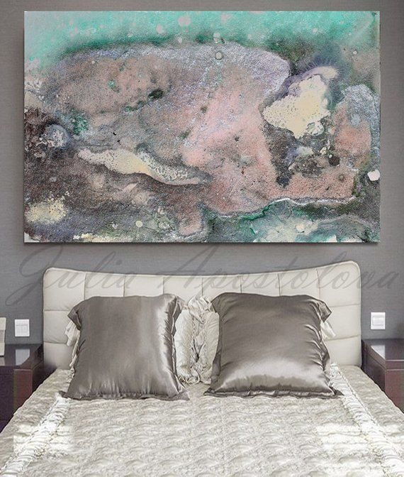 46inch, Pastel Wall Art, Abstract Watercolor Painting, Pastel Abstract Art, Large Canvas Print, Abstract Print, Large Pastel Canvas, Pearl
