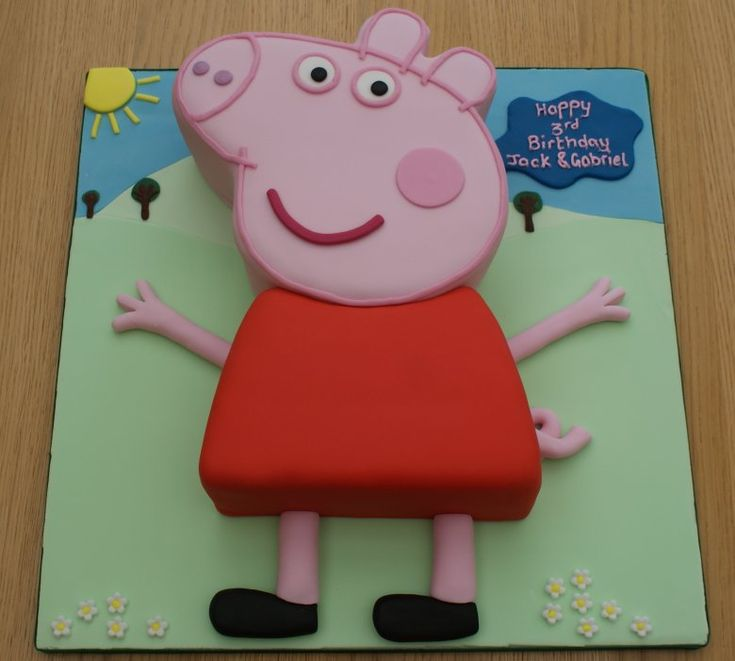 1000 images about peppa pig birthday ideas on pinterest for Peppa pig cake template free