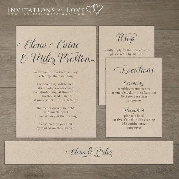 Henry tinder wedding invitations