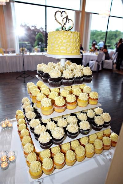 Andrew & Ann Haas - Gray and Yellow Spring Wedding, could do without the chocolate