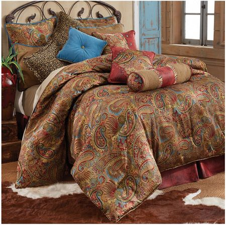 Delectably Yours San Angelo Southwestern Comforter Set & Accessories by Hi End Accents  #DelectablyYours  Southwest Western Bedroom Decor
