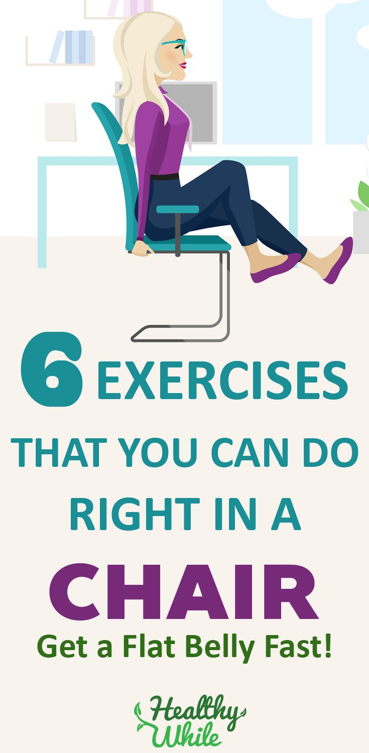 6 Exercises for a Flat Belly That You Can Do Right in a Chair   Healthy While