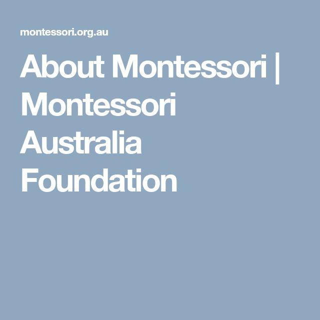 About Montessori   Montessori Australia Foundation