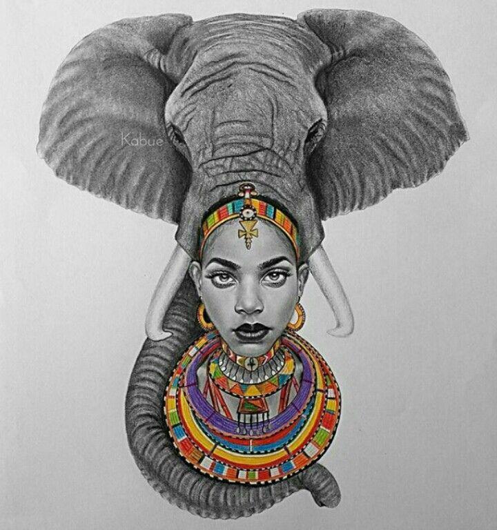 Best 25 african tattoo ideas on pinterest african for Black african queen tattoos