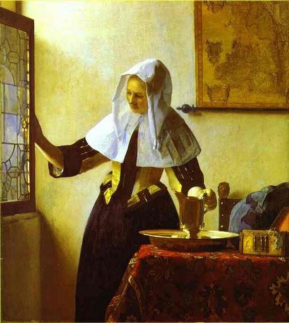 Woman with a Water Jug   c.1664-1665  Vermeer