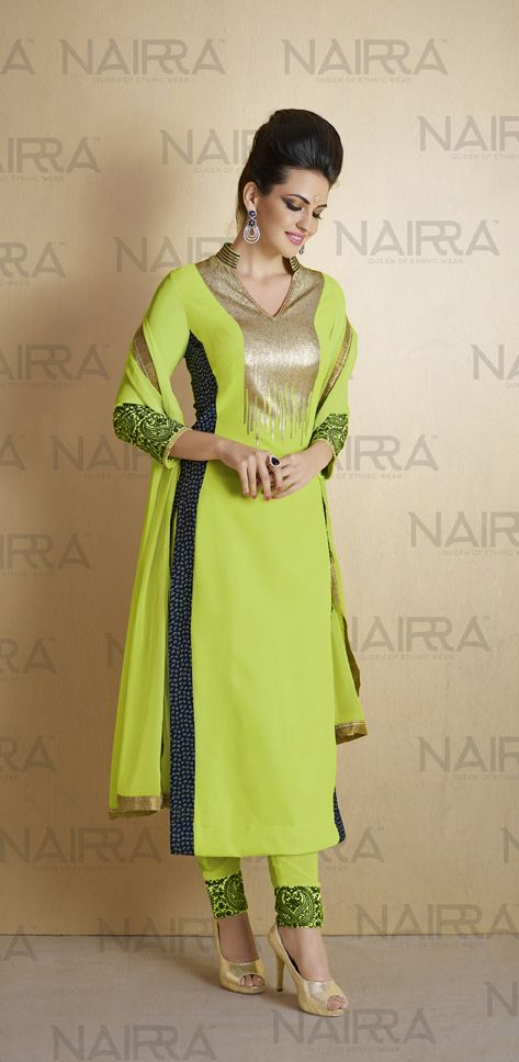 Buy Online Exclusive Designer Pant Suit or shuits Parrot Green Color, Georgette and Santoon material, Chiffon Dupattas, Party Wear, Ceremonial Wear, Festival Wear, kitty party wear for women, Pant Suits, Pant suit, shuits for women. We have large range of Designer Pant suits in our website with the best pricing and unique designs shipping to (UK, USA, India, Germany, UAE, Canada, Singapore, Australia, Mauritius, New Zealand) world wide.
