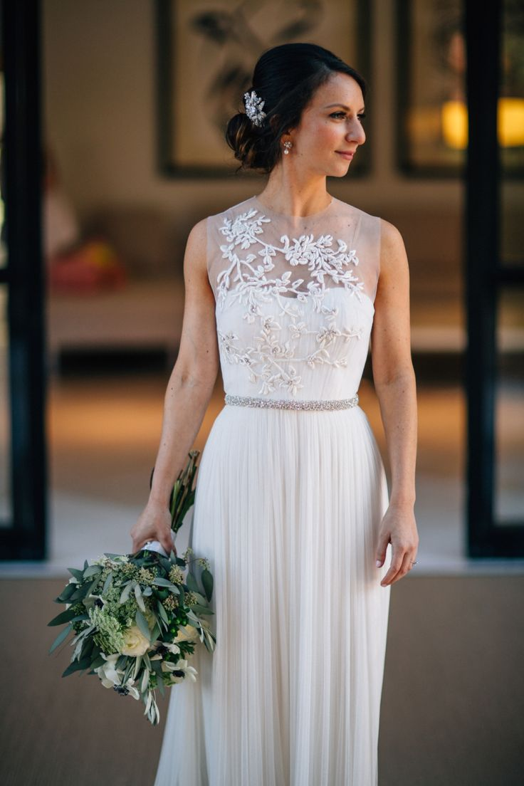 Gorgeous sheer embellished BHLDN dress: http://www.stylemepretty.com/collection/2058/