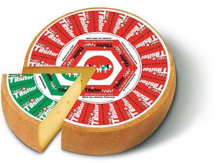 Tilsiter cheese from Switzerland mild or mature