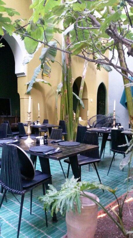 Marrakech, restaurant le jardin