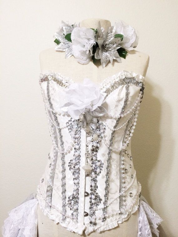 Beauty in wonderland rave corset withe corset by RolitaRaveCouture, $158.00