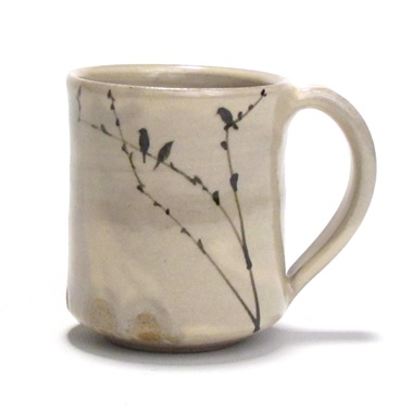 birds  ceramic art  mug