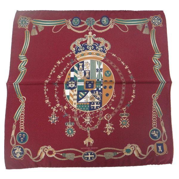 【レビューで送料無料】【Salvatore Argenio】ポケットチーフ・王冠とナポリの紋章・バーガンディのポケットスクウェア【あす楽対応】【楽ギフ_包装選択】【楽ギフ_メッセ入力】【カフスマニア】【楽天市場】
