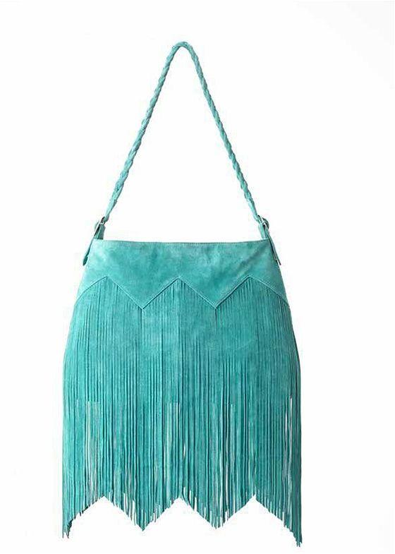 Fringed Suede Handbags   jade suede fringed bag $ 195 00 beautiful jade suede