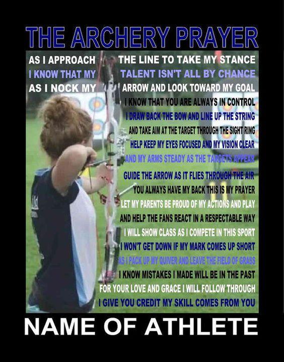 The Archery Prayer personalized  with photo 11 X 14, Archer Prayer, Archery, Prayer for archers, Crossbow, Arrow,