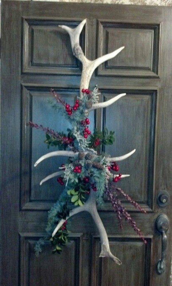 The 25 best christmas 2015 ideas on pinterest christmas for Antler decoration