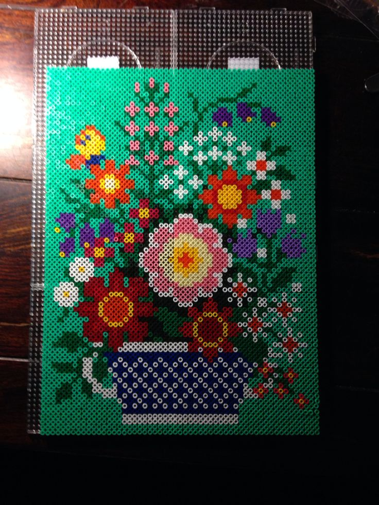 Flowers - Hama perler bead art by Dorte Marker