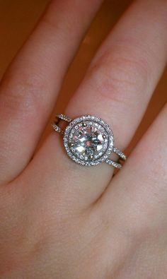 My Double Halo Engagement Ring! :  wedding engagement ring Double Halo1