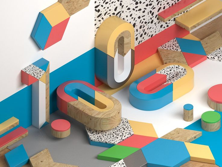 Geometric colors on Behance