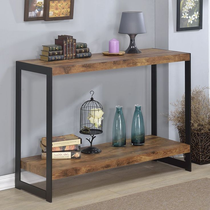 This Sleek And Rustic Industrial Table Would Look Great In: 25+ Best Ideas About Rustic Console Tables On Pinterest