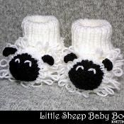 Little Sheep Baby Booties - via @Craftsy