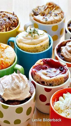 Leckere und viele verschiedene Mirkowellen Tassenkuchen #baking #LifeIsSweet #Bahlsen