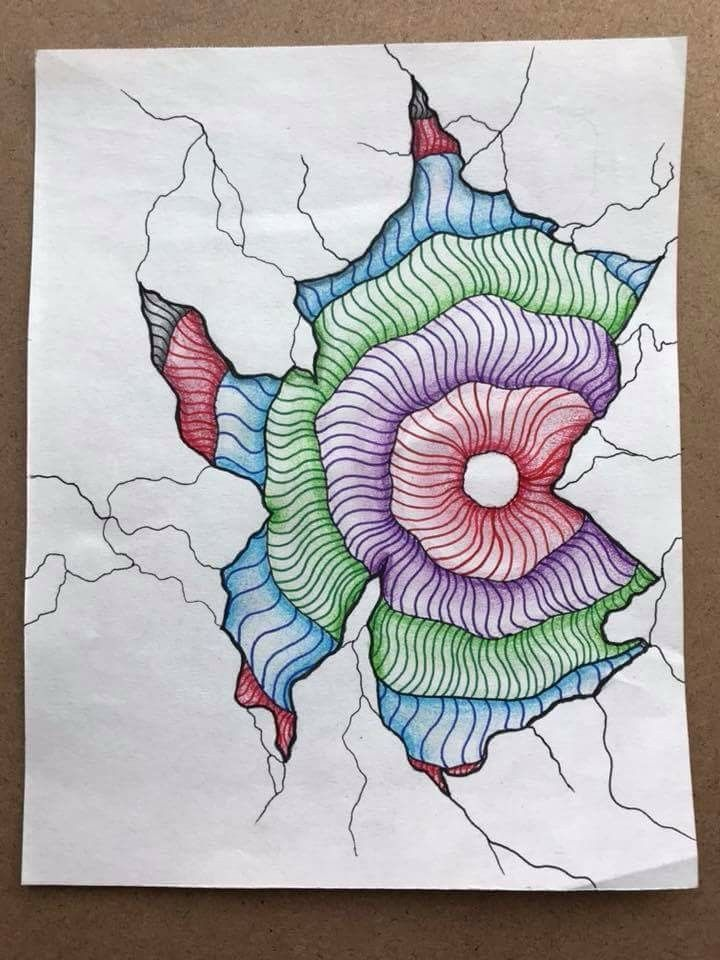 By Gina Navarro. Colored pens and pencils.