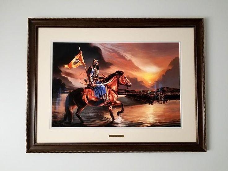 Banda Singh Bahadur painting by Kanwar Singh.  Fine art prints available starting at $70 CAD.