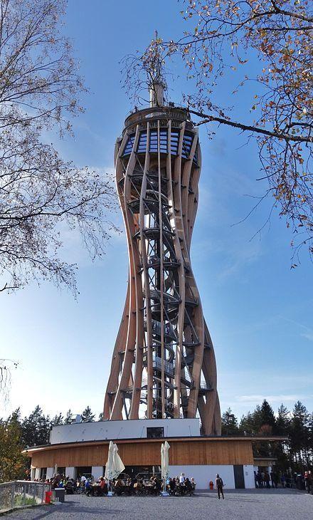 Aussichtsturm Pyramidenkogel (observation tower, free with Karnten Card) - Keutschach am See, Austria