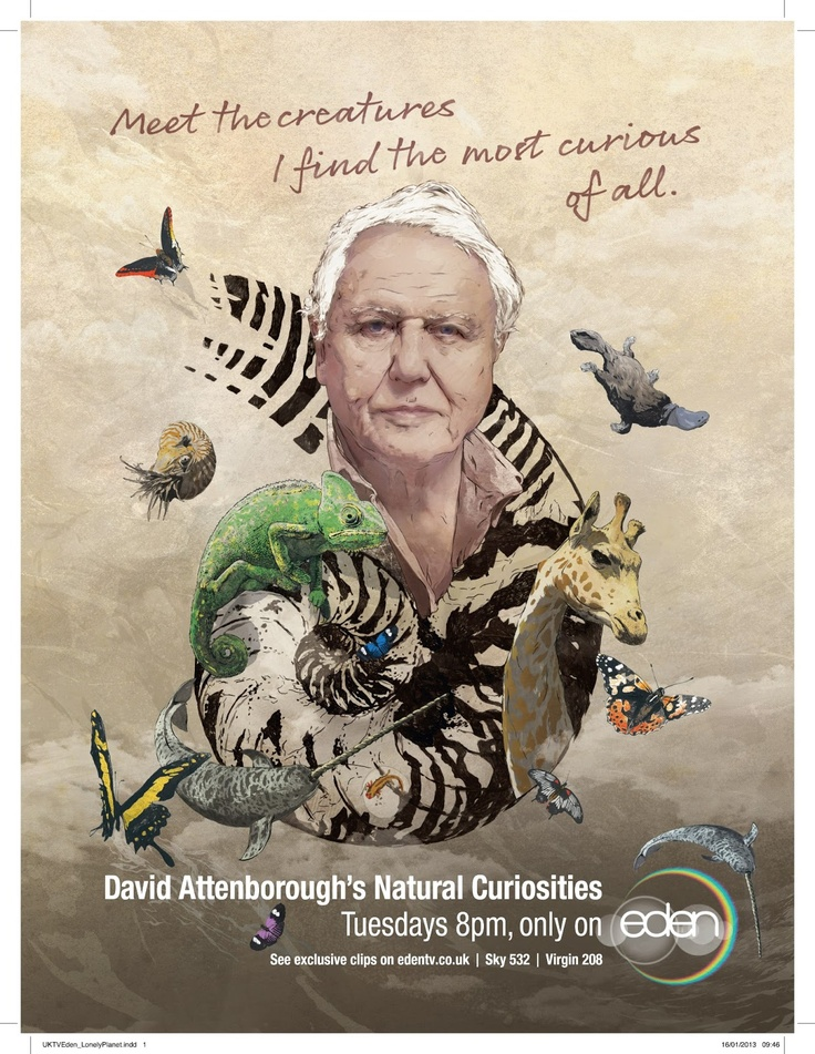 TONIGHT: David Attenborough's Natural Curiosities on @EdenChanel - Freaky, Bizarre, Fascinating