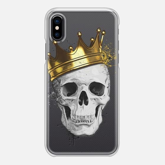 Royal Skull - iPhone Case by Nicklas Gustafsson #skull #crown #crown #muerte #spatter #iphone #case #transparent #clear #smartphone