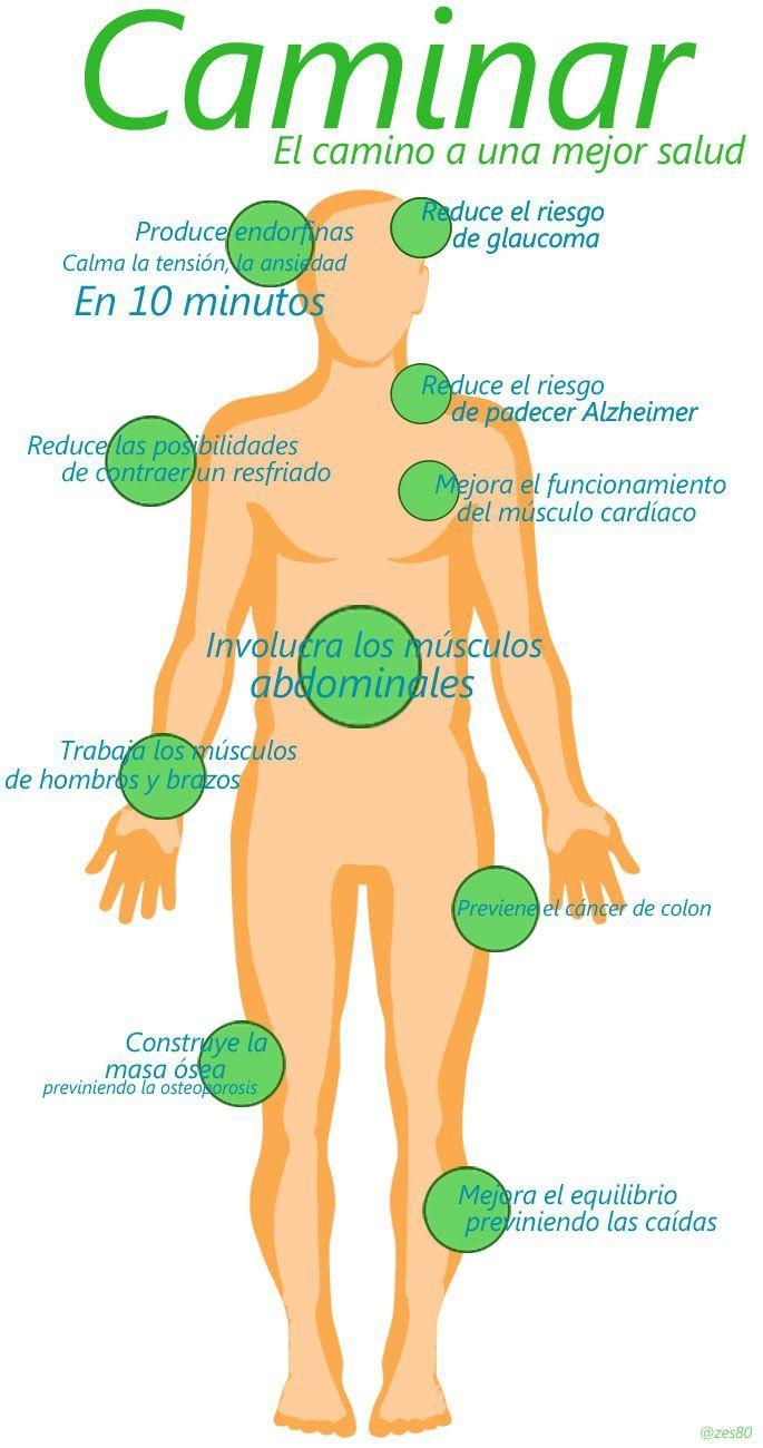 Los beneficios de caminar. #Infografia #deporte #salud