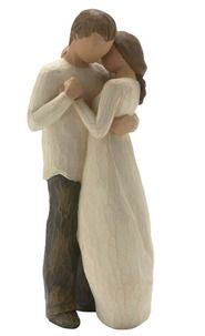 """""""Promise"""" figurine, Willow Tree ... so this is my wedding cake topper also! me and jimmy dancing, and there will be a little boy holding a gold heart standing on top also representing stephen! I LOVE THESE SO MUCH!!!"""