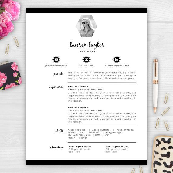17 Best Resumes With Photos Images On Pinterest | Cover Letter