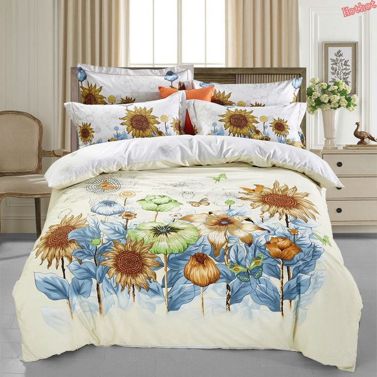 Flower four seasons cotton cartoon four-piece cotton double bed quilt bed linen 1.5m / 1.8 / 2.0m bed